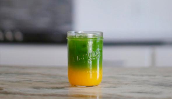 Matcha con zumo de naranja 7