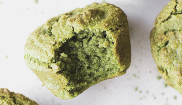 Muffins de aguacate y matcha 4
