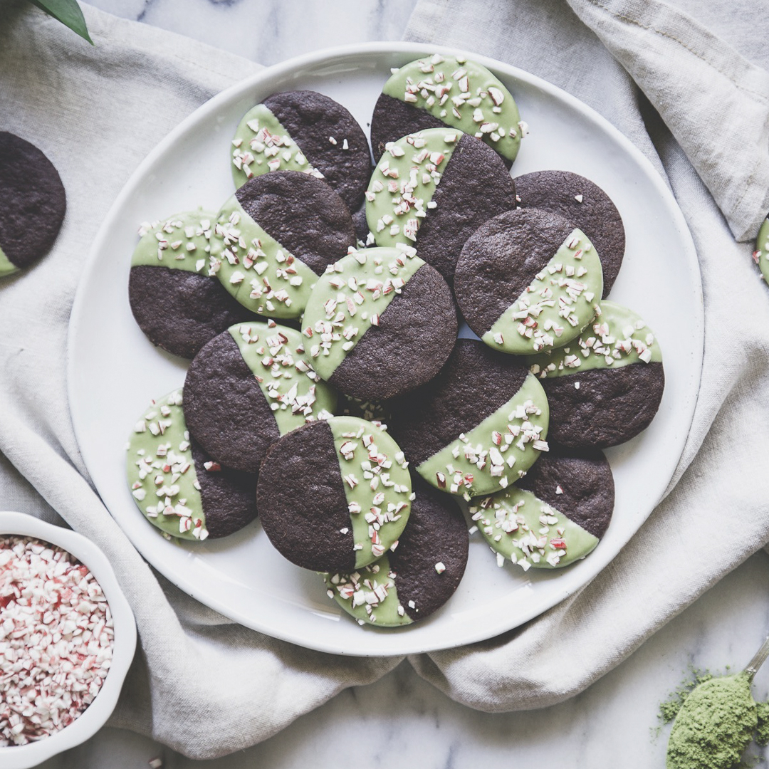 Galletas de chocolate mojadas en matcha 1