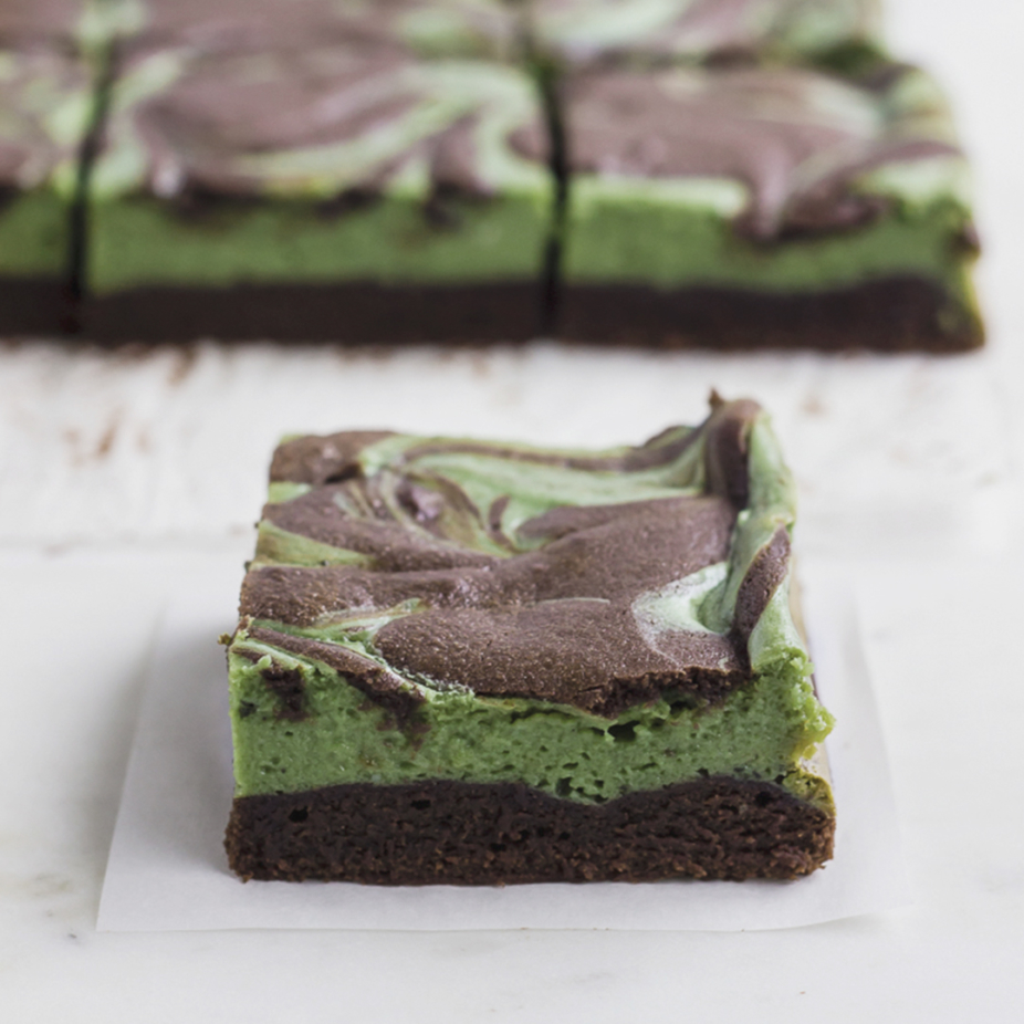 Cheesecake brownie de matcha 3